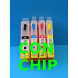 Set 4 Cartucce Vuote Ricaricabili Per HP920-HP364 con chip non autoreset