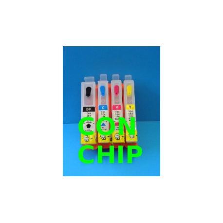 Set 4 Cartucce Vuote Ricaricabili Per HP920-HP364