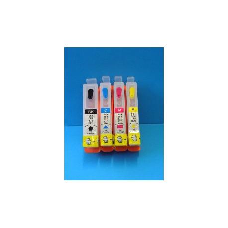 Set 4 Cartucce Vuote Ricaricabili Per HP920-HP364 senza chips