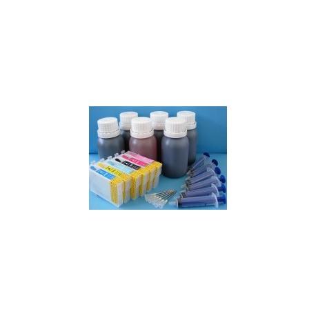 Set 6 Cartucce Vuote Ricaricabili Per Epson T0481-T0482-T0483-T0484-T0485-T0486