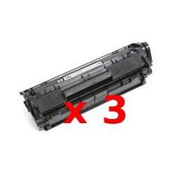 Tripack Toner Compatibili Per Hp Q2612A