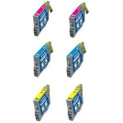 Set 6 Cartucce Compatibili Per Epson T0712 T0713 T0714