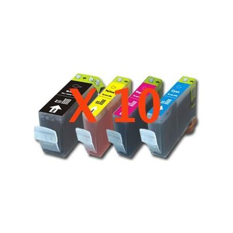 Stock 10 Cartucce A Colore Serie Canon BCI-3 Con 3 Confezioni Carta Fotografica A6