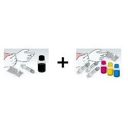 Kit Ricarica Rainbow 100 ml a Colore per Cartucce Epson T0711 T0712 T0713 T0714
