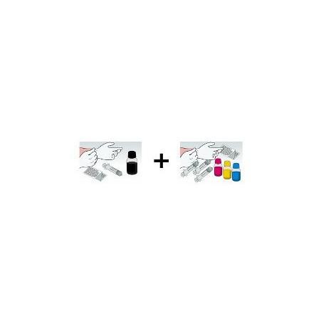 Kit Ricarica Rainbow 100 ml a Colore per Cartucce Epson T0711 T0712 T0713 T0714