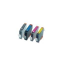 Confezione Bundle Rainbow Compatibile Per Cartucce Canon BCI-6Bk BCI-6C BCI-6M BCI-6Y