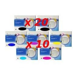 Set 70 Cartucce Compatibili Multipack Per Epson T0801 T0802 T0803 T0804 T0805 T0806