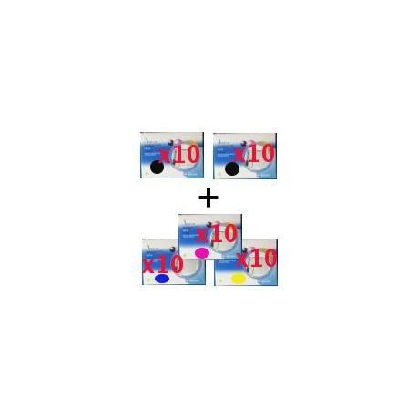 Set 50 Cartucce Compatibili Multpack Per Epson T0711 T0712 T0713 T0714