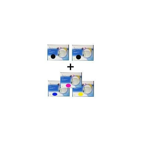 Set 5 Cartucce Compatibili Per Epson T0611 T0612 T0613 T0614