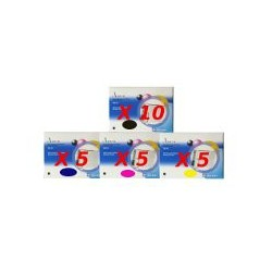 Set 25 Cartucce Compatibili Super Rainbow Per Epson T0551 T0552 T0553 T0554