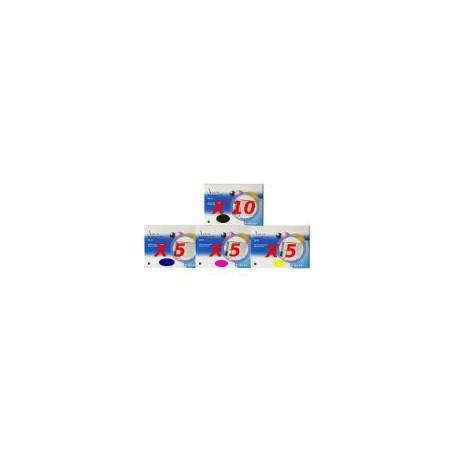 Set 25 Cartucce Compatibili Super Rainbow Per Epson T0551 T0552 T0553 T0554