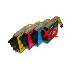 Cartucce Compatibili Combo Per Brother LC-985 BK LC-985 C LC-985 M LC-985 Y