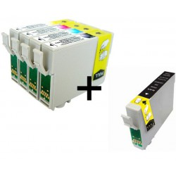 Set 5 Cartucce Compatibili Per Epson T0441 T0442 T0443 T0444