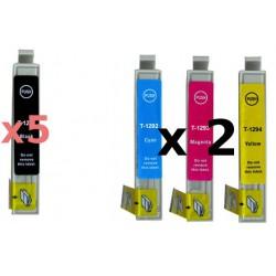 Set 11 Cartucce Compatibili Rainbow Plus Per Epson T1291 T1292 T1293 T1294