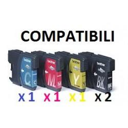 Cartucce Compatibili Combo Ad Alta Capacità Per Brother LC-1100Bk LC-1100C LC-1100M LC-1100Y LC-980Bk LC-980C LC-980M LC-980Y