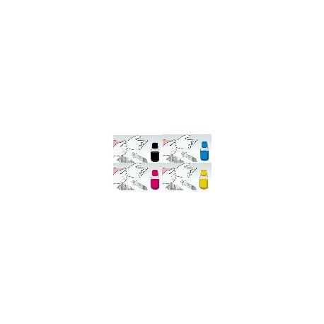 Confezione 4 Flaconi 1 Litro Inchiostro Dye Epson