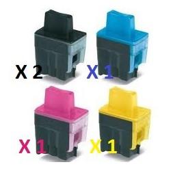 Offerta Combo Con 2 Cartucce Nere e 1 Cartuccia Per Colore Per Brother LC900