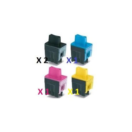 Offerta Combo Con 2 Cartucce Nere e 1 Cartuccia Per Colore Per Brother LC900XL