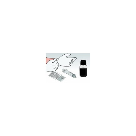 Kit Ricarica Nero 500 ml Per Cartucce HP56 HP27
