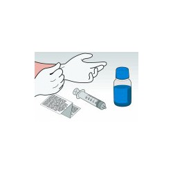 Kit Ricarica Ciano 500 ml Per Cartucce HP57 HP28