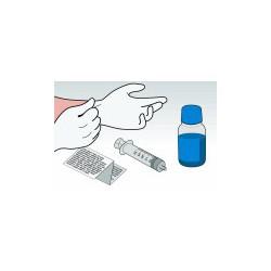 Kit Ricarica Ciano 500 ml Per Cartucce HP22