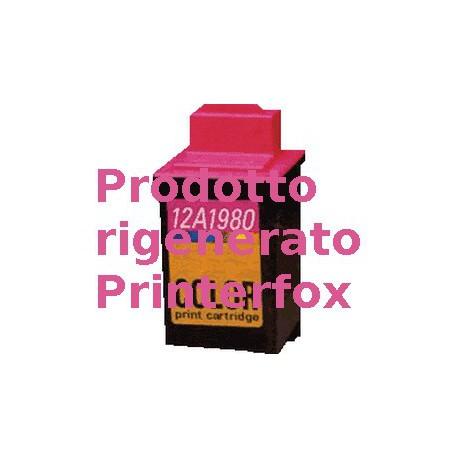 Cartuccia Tricolor Rigenerata Lexmark 12A1980