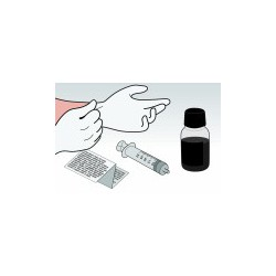 Kit Ricarica Nero 250 ml Per Cartuccia Lexmark 12A1970
