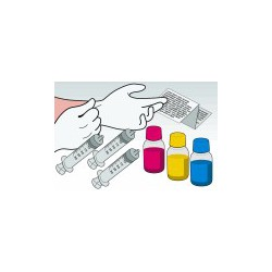 Kit Ricarica Tricolor 250 ml Per Cartuccia Lexmark 12A1970 12A1980