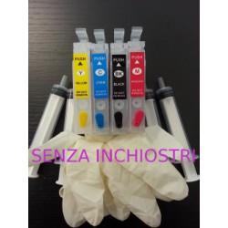 Set 4 Cartucce Vuote Ricaricabili Per Epson T1811-T1812-T1813-T1814