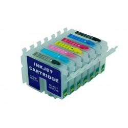 Set 7 Cartucce Vuote Ricaricabili Per Epson T0341-T0342-T0343-T0344-T0345-T0346-T0347