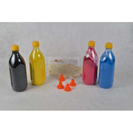 Kit Ricarica Toner Rainbow Qualità Glossy Per Cartucce Oki 42918916 42918915 42918914 42918913