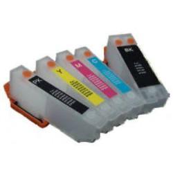 Set 5 Cartucce Vuote Ricaricabili Per Epson T2621-T2631-T2632-T2633-T2634