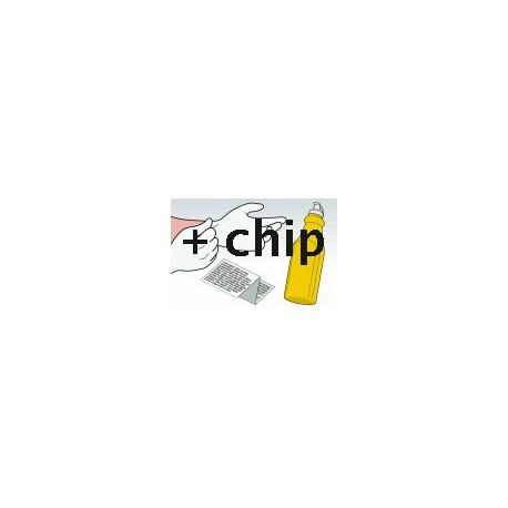 Kit Ricarica Toner Giallo Per Cartucce Konica Minolta TN-214Y