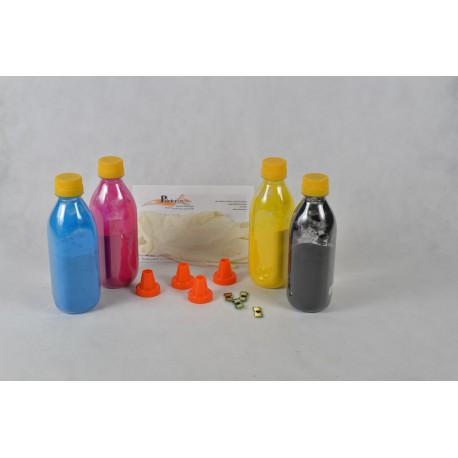 Kit Ricarica Toner Rainbow Per Cartucce Konica Minolta 1710582-001 1710582-004 1710582-003 1710582-002