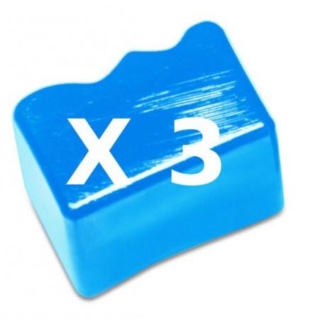 3 Ink Sticks Compatibili Ciano Per Xerox 108R00605