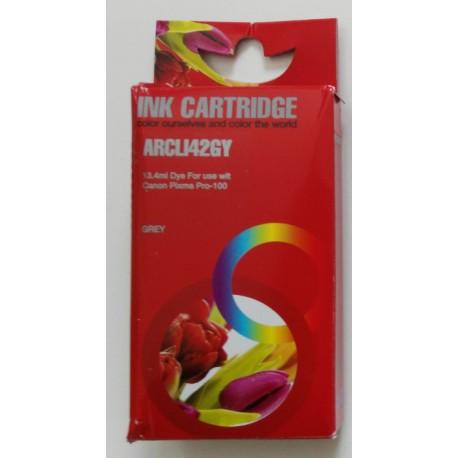 Cartuccia Compatibile Grigia Con Chip Per Canon CLI-42