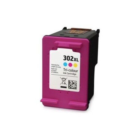 Cartuccia Tricolor Rigenerata HP 302 XL (F6U67AE)