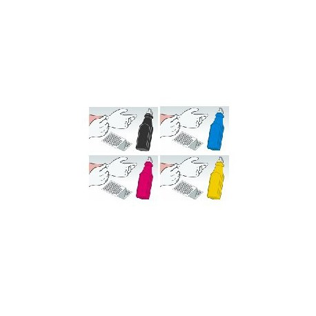Kit Ricarica Toner Rainbow Per Cartucce Samsung CLP-500D7K CLP-500D5C CLP-500D5M CLP-500D5Y