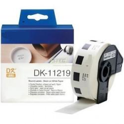 DK 11219 Rotolo Etichette 12mm 1200psc Bianco