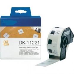 DK 11221 Rotolo Etichette 23mmX23mm 1000psc Bianco
