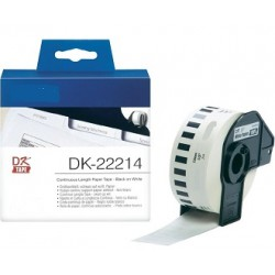 DK 22214 Rotolo Etichette 12mmX30.48m Bianco