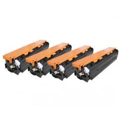 Multipack Toner Compatibili Per Hp CB540A-CB541A-CB542A-CB543A