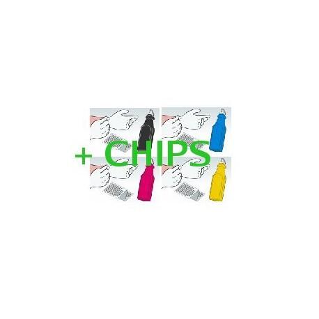 Kit Ricarica Toner Rainbow Per Cartucce Hp CC530A CC531A CC533A CC532A
