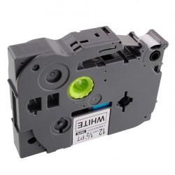 TZ-FX611 Rotolo Etichette 6mmX8m Laminato Giallo Nero