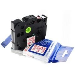 TZ-S121 Rotolo Etichette 9mmX8m Laminato Nero Trasparente