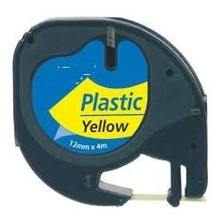 Nastro Etichette Dymo Compatibili S0721670 12mm x 4M Giallo plastificato