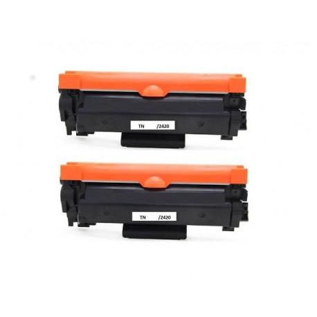 Offerta Bipack Toner Brother TN-2420 Compatibile Senza Chip