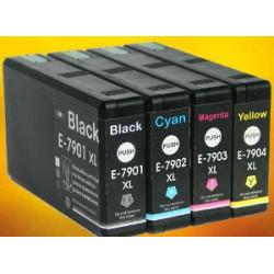 Rainbow 4 Cartucce Epson T7901XL T7902XL T7903XL T7904XL