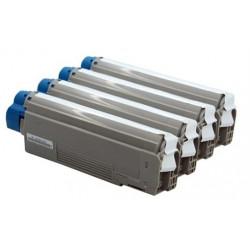 Multipack Toner Oki 43865732-43865731-43865730-43865729 Compatibili