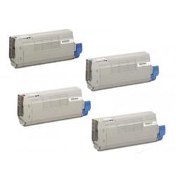 Multipack 4 Toner Oki 45396216-45396215-45396214-45396213 Compatibili